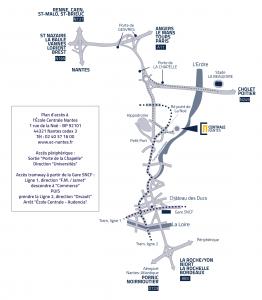Plan d'accès à Centrale Nantes