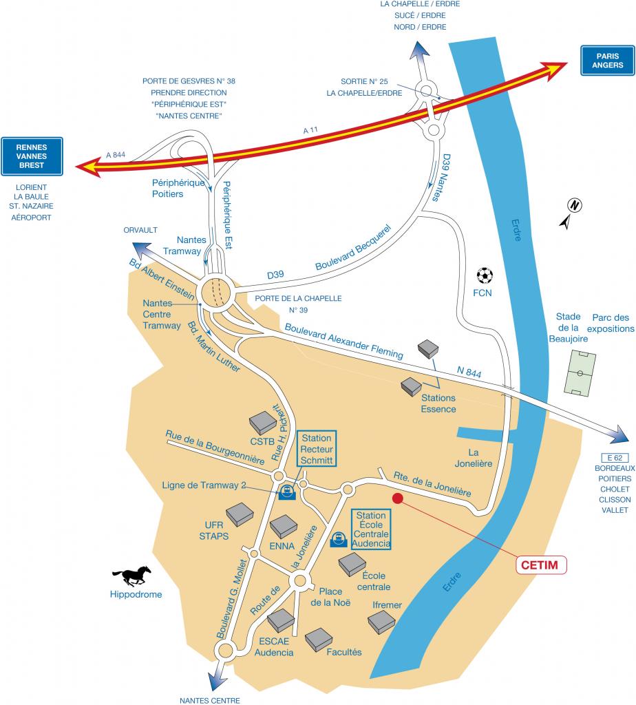 Plan d'accès Cetim Nantes